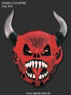 Diabo com Chifre - Máscara Inteira