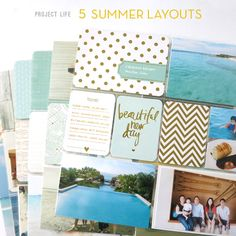 Project Life: 5 Summer Layouts   Tips and Card/Kit suggestions for beach themed layouts. Becky Higgins, Pocket Scrapbooking   Make Ideas Happen / Rianne Alonte