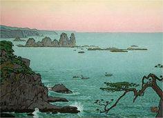 """""""Irozaki, Morning"""" by Toshi Yoshida, 1961"""