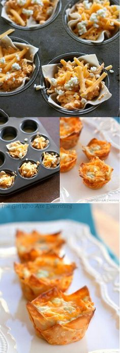 Chicken Cheese cupcakes