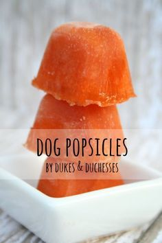 Dog Popsicles your pooch will love!