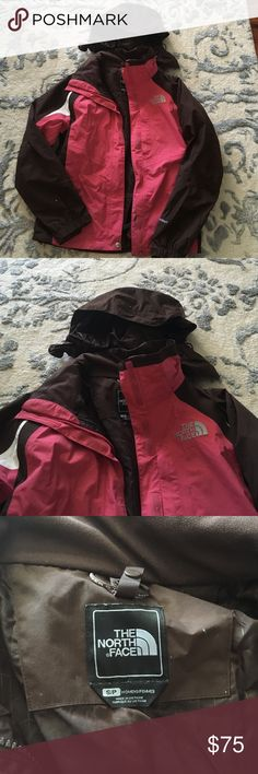 The North Face Rain Coat The north face Hyvent Rain coat!! It has the option to zip in an additional north face jacket as well for more warmth!! The hood zips on and off at well!! I have two of them for sale and they are in mint condition and worn a handful of times!! The North Face Jackets & Coats Utility Jackets