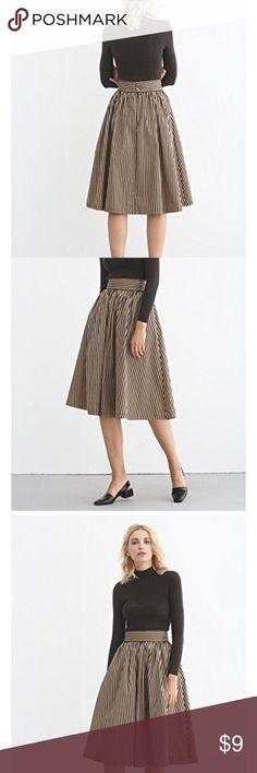 Simple Retro Midi Skirt Vintage A Line Skirt Women's Midi Skirt Vintage A Line Skirt with Pocket Skater Skirts for Autumn Winter  Size Large US 14 EU 46 UK 18 Simple Retro Skirts Asymmetrical