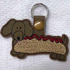 Key Tag Machine Embroidery Designs