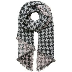 Hallhuber Winterly Houndstooth Scarf (13.705 HUF) ❤ liked on Polyvore featuring accessories, scarves, houndstooth scarves, thick scarves, print scarves, hallhuber and patterned scarves