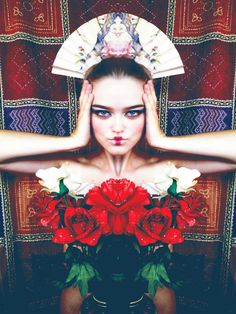 Olga Valeska Fine Art Photography Self Portrait Rose Geisha
