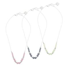Our personalized Pearl and Pave Bead Necklaces are perfect for your wedding day or any event. The faux pearl and crystal necklace is available in 7 colors. Engrave a message, your name, monogram or a special date on the front and back of the heart charm near the clasp. https://www.thingsremembered.com/pearl-and-pave-bead-necklaces/product/343244?fcref=pinterest