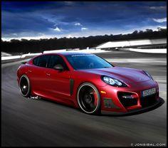 Tuned Porsche Panamera | Rendering by Jon Sibal