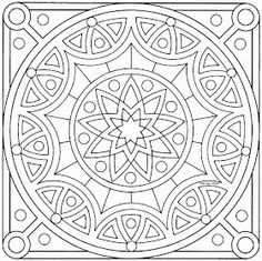 Mandala Coloring Pages Do you Looking for a Mandala Coloring Pages ? Mandala C. Pattern Coloring Pages, Mandala Coloring Pages, Coloring Book Pages, Printable Coloring Pages, Mandala Pattern, Zentangle Patterns, Zentangles, Mandala Colour, Geometric Patterns