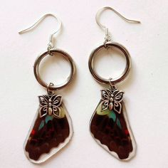Handmade butterfly earrings by sequoia wolfe