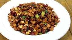 Kung Pao Chicken (宫保鸡丁 Gong Bao Ji Ding) is one of the most popular Sichuan dish! Authentic Kung Pao Chicken is made with small diced chicken, lots of dried chili, peanuts and special savory sauces. Chicken Recipes Video, Healthy Chicken Recipes, Asian Recipes, New Recipes, Cooking Recipes, Ethnic Recipes, Asian Foods, Chinese Recipes, Cooking Food