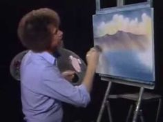 """Bob Ross Remixed """"Happy Little Clouds""""....this makes me smile :D #alanparsonsprojectstyle"""