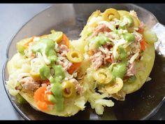 Receta de patata asada rellena de atún y verdura, saludable y baja en calorías. Si te ha gustado dale a like! Comencemos juntos la aventura de cocinar! Faceb...