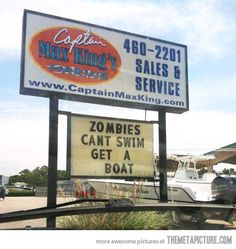 Funny Zombie Signs | ... Funny Zombie Apocalipse Sign Picture - Funny Signs Pictures Tumblr