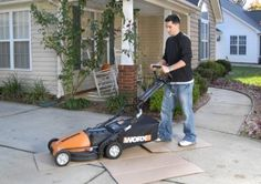 WORX 36 Volt Cordless Lawn Mower With Removable Battery & IntelliCut : Walk Behind Lawn Mowers. Walk Behind Lawn Mower, Cordless Lawn Mower, Lawn Mower Tractor, Farm Gardens, Lawn And Garden, Beautiful Gardens, Tractors, Outdoor Power Equipment, Hair Loss