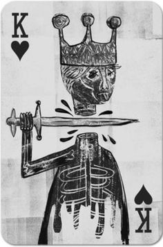 #king of #heart #head #Playng #cards