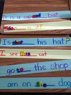 You could also make it self-correcting by writing possible sight words on the back of each strip! Sarah's First Grade Snippets: More literacy activities USE for sidewalk sight words. Teaching Sight Words, Sight Word Activities, Reading Activities, Teaching Reading, Guided Reading, Reading Mastery, Fluency Activities, First Grade Activities, Language Activities