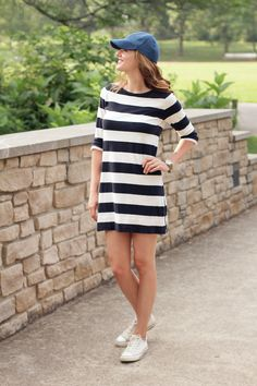 Sporty style doesn't mean you can't still look pretty and feminine in a dress!