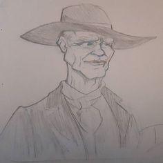 Ed Harris Westworld #sketch #drawing #dibujo #drawings #handdrawn #doodle #drawn #dailysketch #dessiner #dibujos #cartoon #cartoons  #cartoonstyle #sketches #DGDOdraw #westworld #cowboy #doodles #westworldhbo #edharris