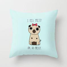 I feel pretty Throw Pillow by Anita Dinamita - $20.00