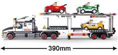 Sluban model building kits compatible with lego city truck 446 3D blocks Educational model & building toys hobbies for children #Affiliate