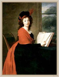 The Athenaeum - Countess Maria Theresa Czernin Élisabeth Vigée-Lebrun - 1793 Private collection Painting - oil on canvas