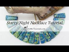 Starry Night Polymer Clay Necklace Tutorial - YouTube