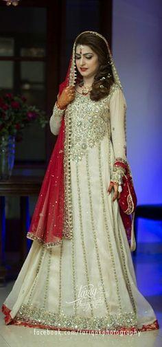 Pakistani couture #white uploaded by Fatimah Hayat.