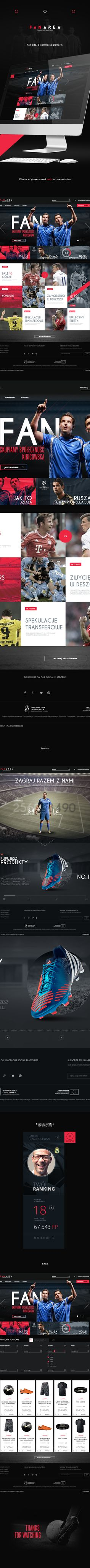 Football Fan Site & Shop by Carlo , via Behance