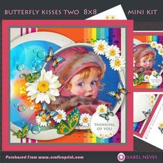 Butterfly Kisses Two Card 3 on Craftsuprint designed by Isabel Neves - Bright and Cheery...to brighten your dayButterfly Kisses Two Card 3Mini Kit IncludesCard Front, Card Insert, Topper Decoupage, Decoupage Pieces, Sentiment Tags, Gift/Bag Tag, PreviewSentiment Tags Read:Thinking Of You, Especially For YouAlso Includes Blank for your own sentiments - Now available for download!