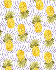 pineapple pattern, by bouffantsandbrokenhearts