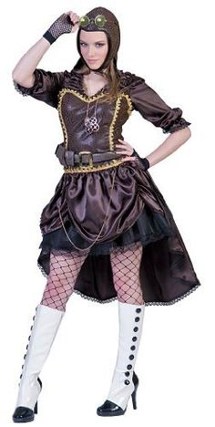 Modern Steampunk wear is actually a throwback to days gone by with a pinch of current fashion tossed in. Check out some of the latest Steampunk fashion trends. Crazy Halloween Costumes, Adult Costumes, Costumes For Women, Funny Costumes, Happy Halloween, Steampunk Couture, Steampunk Clothing, Steampunk Fashion, Steampunk Gloves