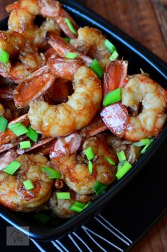 Kung Pao Chicken, Shrimp, Seafood, Healthy Lifestyle, Food And Drink, Yummy Food, Dinner, Ethnic Recipes, Gastronomia