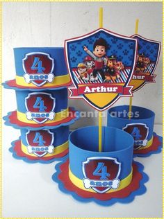 If you like PAW Patrol or the canine patrol, you're in luck today we bring you several decorating ideas for PAW Patrol's birthday or the c. Paw Patrol Party Favors, Paw Patrol Party Decorations, Balloon Decorations, 3rd Birthday Parties, 2nd Birthday, Cumple Paw Patrol, Spiderman Theme, Paw Patrol Birthday, Party Centerpieces