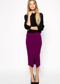 Юбка-карандаш (152 фото) 2017: новинки и модные тенденции, длинная, короткая, бордовая, с разрезом спереди