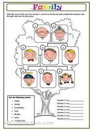 Resultado de imagen para family worksheets pdf