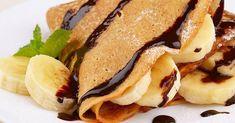 Οι κρέπες είναι πεντανόστιμες και μπορείτε να τις φτιάξετε τόσο το πρωί όσο και το βράδυ.   Εμείς σας προτείνουμε να τις φτιάξετε για τ... Banana Crepes, Detox, Cake, Ethnic Recipes, Food, Ideas, Power Pressure Cooker, Couscous, Kuchen