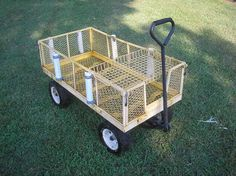 garden cart turned fishing cart for dad. Just add rods, cooler and tackle box. Crappie Fishing, Kayak Fishing, Fishing Tips, Carp Fishing, Fishing Basics, Fishing Stuff, Fishing Knots, Fishing Reels, Beach Fishing Cart