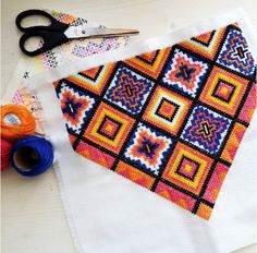 embroidery, geometric, summer, pattern