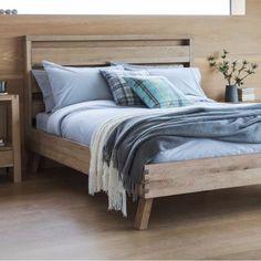 Nordic Kielder Oak Bed - Modish Living Reclaimed wood bed