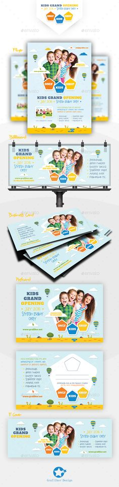 Kids Store Bundle Templates - Corporate Flyers