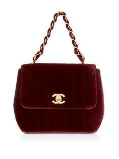 Burgundy Chanel ♥ My mom loved little handbags like this. I love this color. #MACxNastyGal