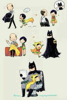 Dick Grayson and Batman Batman Robin, Batman Y Superman, Robin Dc, Spiderman, Funny Batman, Batman Arkham, Lego Batman Memes, Dc Comics, Animal Illustrations