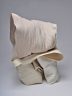 Borne, 2014 by Cheryl Ann Thomas presented by Frank Lloyd Gallery Pottery Sculpture, Sculpture Art, Textile Artists, Cheryl, Ceramic Art, Ann, Porcelain, Textiles, Inspirational
