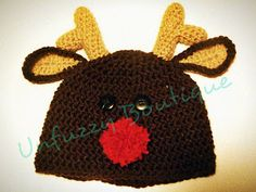 Busting Stitches: Nosey Little Reindeer - free, easy pattern, newborn to adult sizes