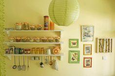 Kitchen - handmade shelves and wall decor