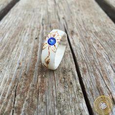 "Handmade Shed Antler Flower Ring ""Maggie"""