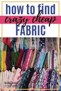 Save tons of money on your next sewing projec by buying secondhand fabric at the thrift store with these tips to get the most bang for your buck Easy Sewing Projects, Sewing Hacks, Sewing Tutorials, Sewing Crafts, Sewing Patterns, Fabric Crafts, Sewing Tips, Dress Patterns, Sewing Ideas
