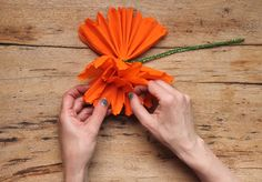 Mexican Paper flowers tutorial