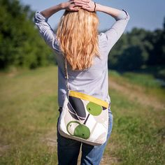 Crossbody Summer Bag with Abstract Design / Everyday Bag from Cotton Fabric / Yellow Green Bag with Apple Wholesome Pictures, Etsy Christmas, Christmas Gifts, Advertising And Promotion, Everyday Bag, Summer Bags, Green Bag, Unique Fashion, Knit Crochet